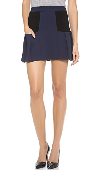 alice + olivia Linder Box Pleat Skirt