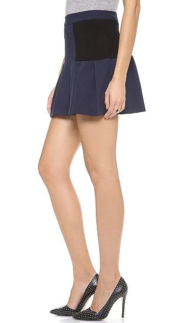 alice + olivia Linder Box Pleat Skirt