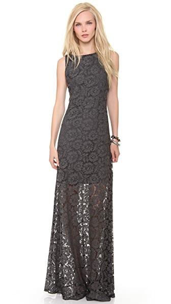 alice + olivia Rocco Open Back Long Dress