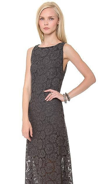 alice + olivia Rocco Open Back Long Dress