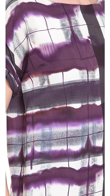 alice + olivia Neptune Roll Sleeve Boxy Top