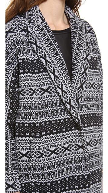 alice + olivia Detailed Cocoon Coat