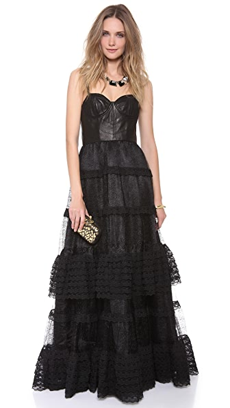 alice + olivia Zoe Sleeveless Frill Dress