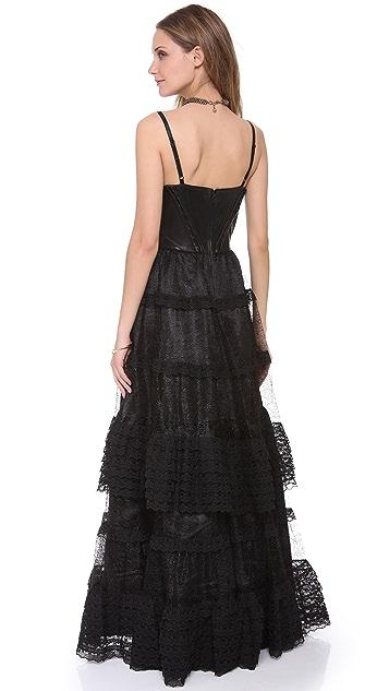 alice + olivia Zoe Sleeveless Frill Dress