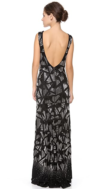 alice + olivia Vivienne Mermaid Gown