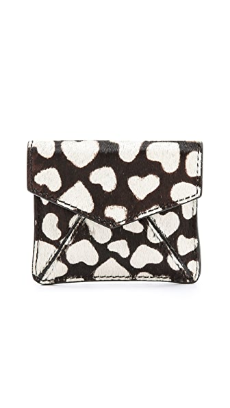 alice + olivia Heart Haircalf Envelope Pouch