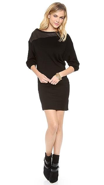 alice + olivia Hayden Scrunched Sleeve Dress