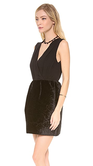alice + olivia Riva Gathered Pouf Skirt Dress