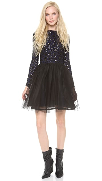 alice + olivia Bergen Embellished Ballerina Dress