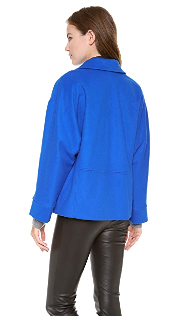 alice + olivia Leah Cropped Cocoon Coat
