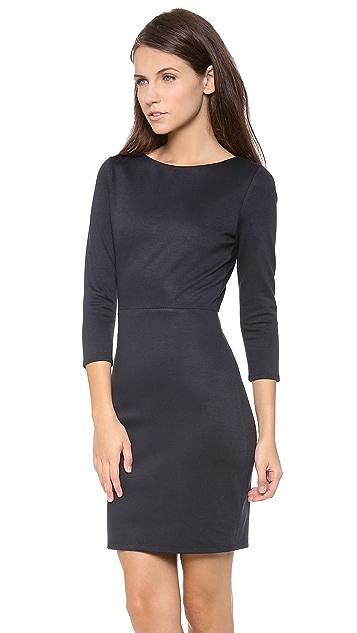 alice + olivia Xenah Leather Back Dress