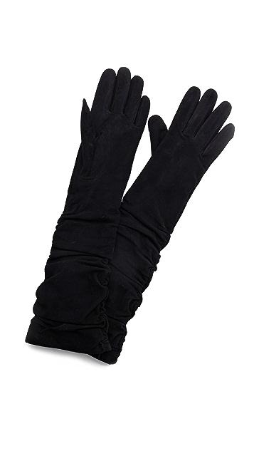 alice + olivia Elenore Suede Elbow Gloves