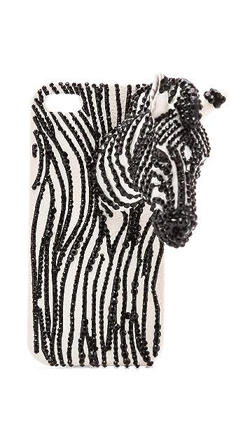 alice + olivia Zebra Jeweled iPhone 5 Case