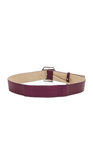 alice + olivia Hexagon Buckle Belt
