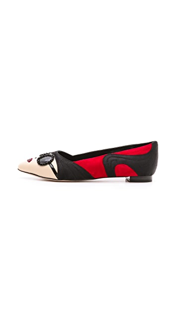 alice + olivia Stacey Face Flats