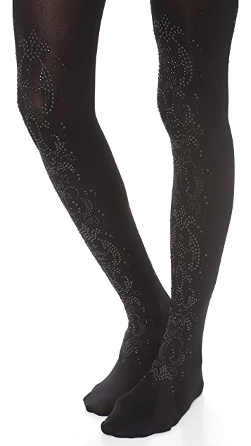 alice + olivia Alice and Olivia by Pretty Polly All Over Baroque Tights