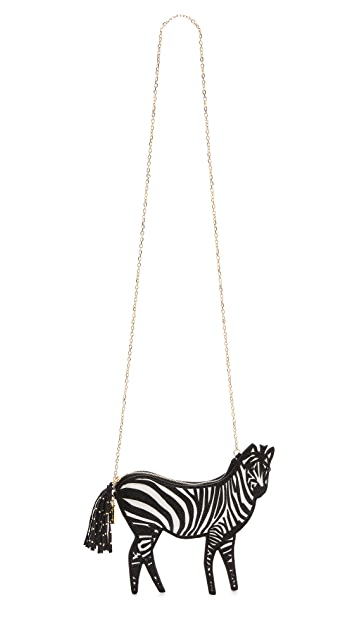 alice + olivia Zebra Clutch