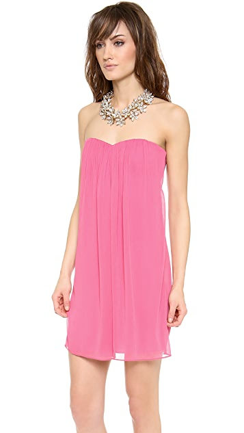 alice + olivia Jazz Center Drape Strapless Dress