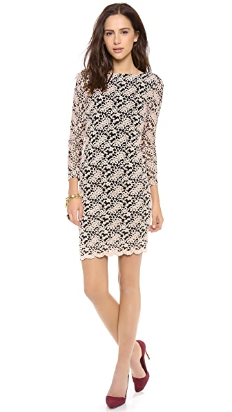 alice + olivia Khole Open Keyhole Back Dress