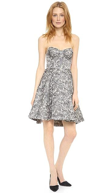 alice + olivia Dillon Angled Bustier Dress