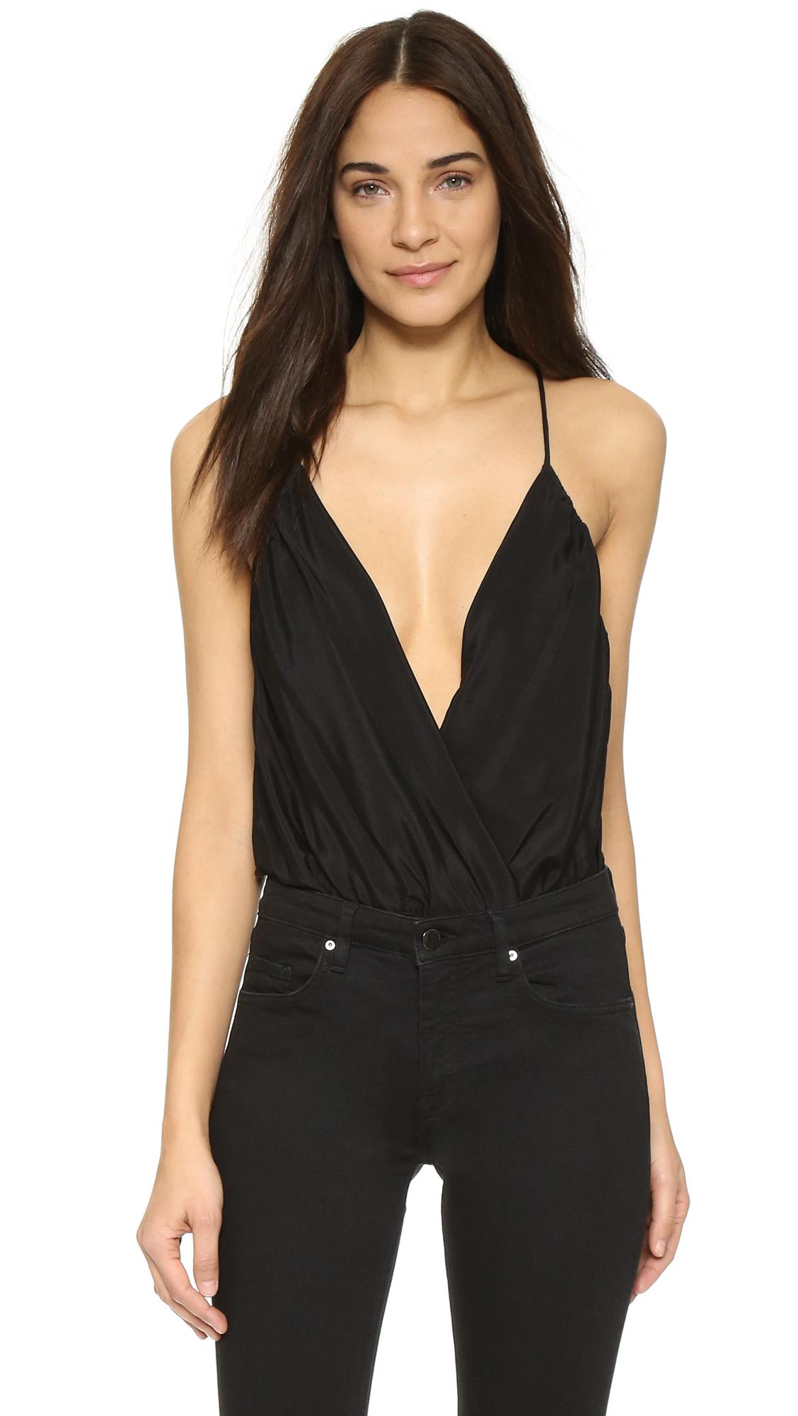 Alice + Olivia Ballerina Bodysuit - Black at Shopbop