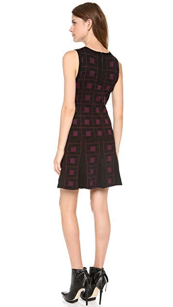 alice + olivia Dani Dropwaist Pleat Dress