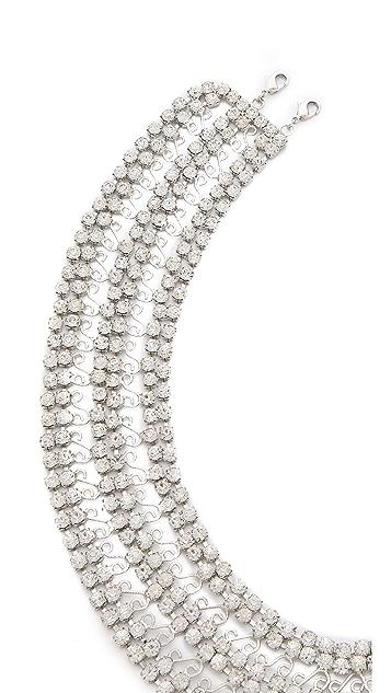 alice + olivia Rhinestone Round Collar Necklace