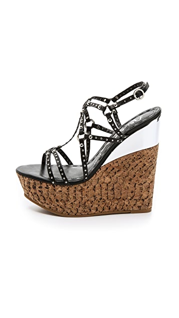 alice + olivia Shayla Wedge Sandals
