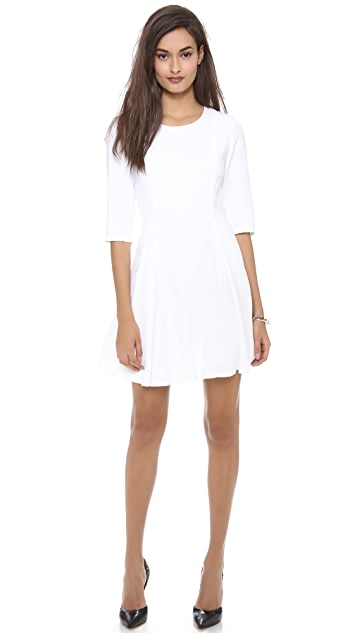 alice + olivia Zoisa Pleated Flare Dress