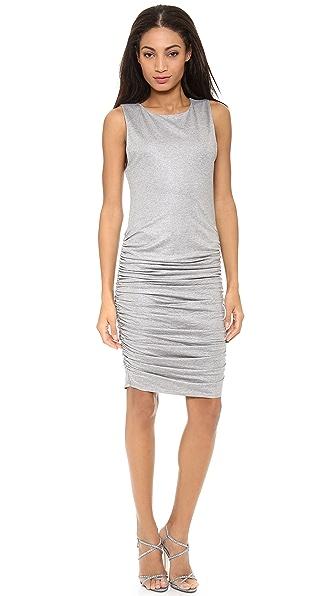 alice + olivia Cathy Sleeveless Side Ruch Dress