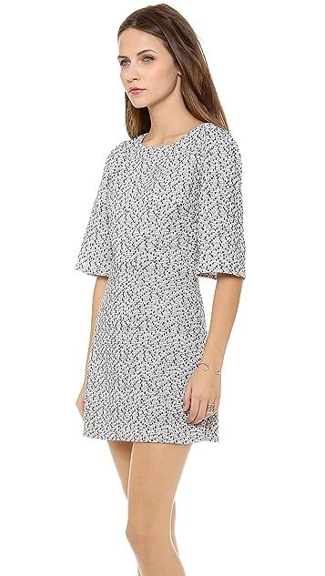 alice + olivia Hanah Puff Shoulder Dress