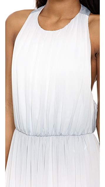 alice + olivia Jinny Gathered Sleeveless Maxi Dress