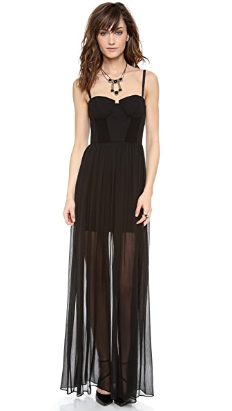 alice + olivia Shakira Bustier Maxi Dress