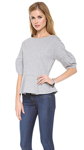 alice + olivia Jay Structured Peplum Top