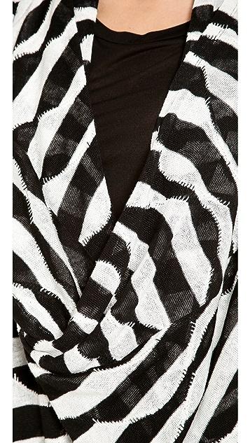 alice + olivia Dezi New Drape Wrap Top