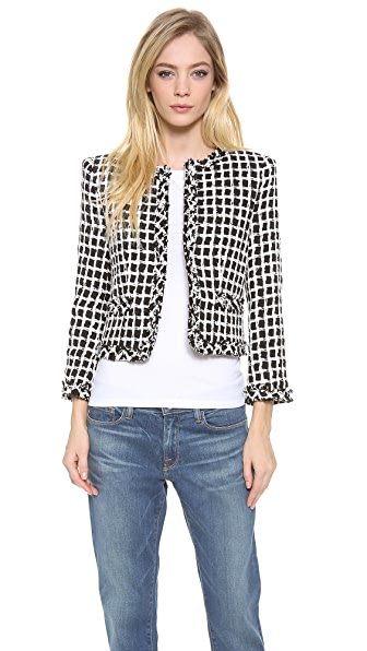 alice + olivia Kidman Open Front Box Jacket
