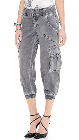 alice + olivia Smocked Crop Cargo Pants