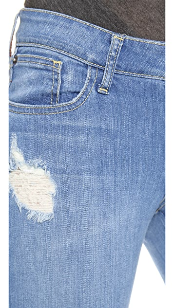 alice + olivia Distressed Stacey Bell Jeans