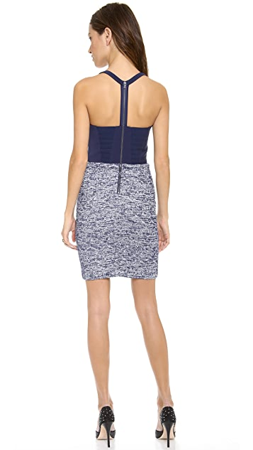 alice + olivia Dixie Cutout Back Bustier Dress