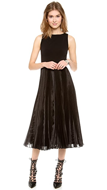 alice + olivia Veena Pleated Dress