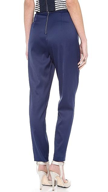 alice + olivia Back Zip Pleated Pants