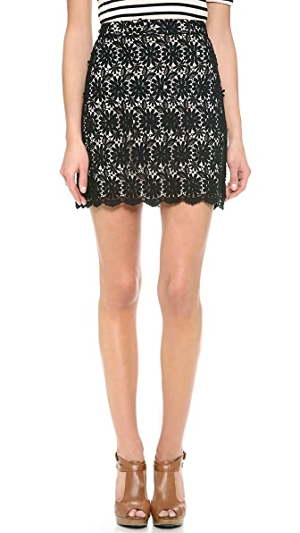alice + olivia Lucia A Line Short Skirt