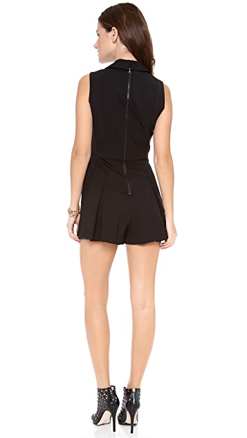 alice + olivia Lori Pleated Short Romper