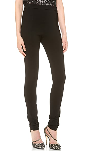 alice + olivia Seamed Back Zip Leggings