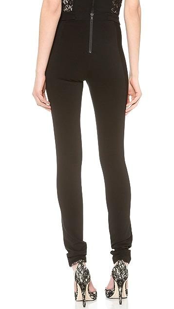 alice + olivia Seamed Back Zip Leggings