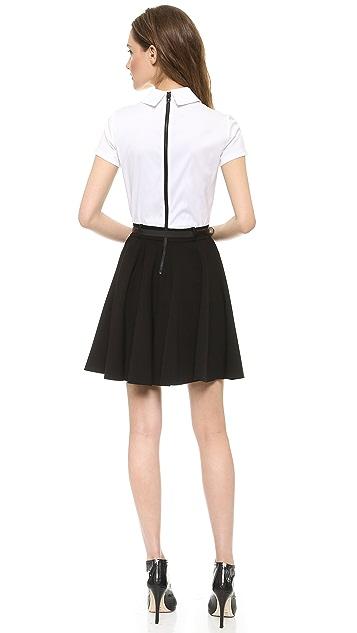 alice + olivia Zoe Combo Shirtdress