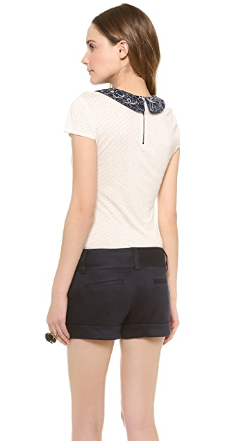 alice + olivia Olympia Peter Pan Collar Top
