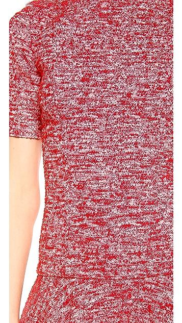 alice + olivia Perry Short Sleeve Flare Dress