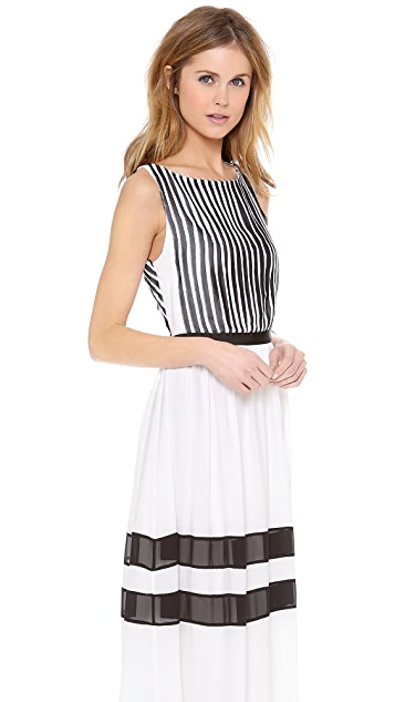 alice + olivia Rae Pleated Long Dress