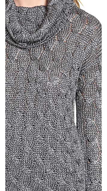 alice + olivia Felicia Chunky Cable Sweater
